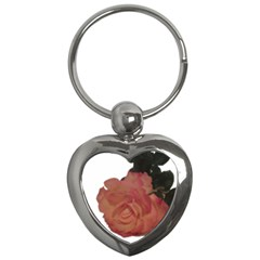 Poppys Last Rose Close Up Key Chains (Heart)