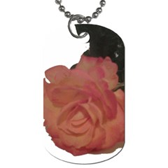 Poppys Last Rose Close Up Dog Tag (One Side)