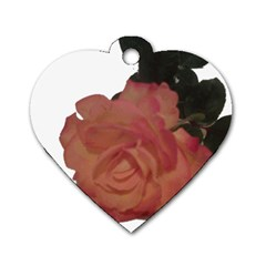 Poppys Last Rose Close Up Dog Tag Heart (One Side)