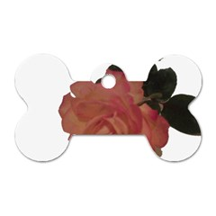 Poppys Last Rose Close Up Dog Tag Bone (One Side)