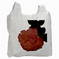 Poppys Last Rose Close Up Recycle Bag (One Side)