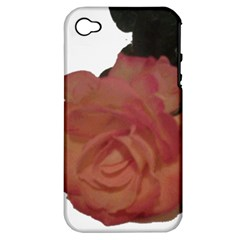 Poppys Last Rose Close Up Apple iPhone 4/4S Hardshell Case (PC+Silicone)