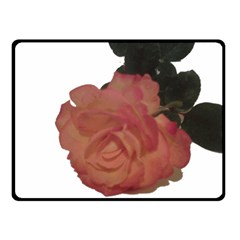 Poppys Last Rose Close Up Double Sided Fleece Blanket (Small)