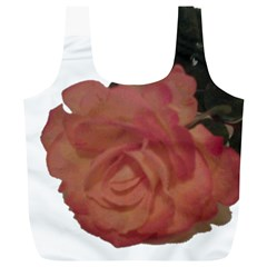 Poppys Last Rose Close Up Full Print Recycle Bags (L)