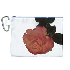 Poppys Last Rose Close Up Canvas Cosmetic Bag (XL)