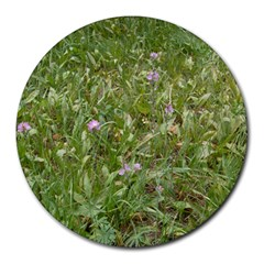 Pink Wildflowers Round Mousepads