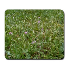 Pink Wildflowers Large Mousepads