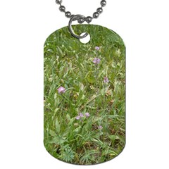 Pink Wildflowers Dog Tag (Two Sides)