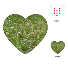 Pink Wildflowers Playing Cards (Heart)