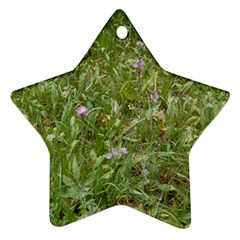 Pink Wildflowers Star Ornament (Two Sides)