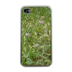 Pink Wildflowers Apple iPhone 4 Case (Clear)