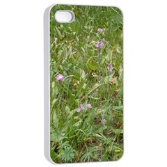 Pink Wildflowers Apple iPhone 4/4s Seamless Case (White)
