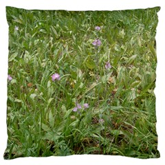 Pink Wildflowers Large Cushion Case (Two Sides)