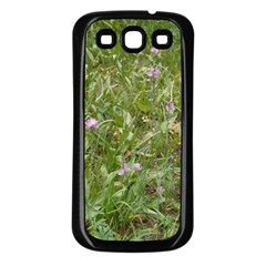 Pink Wildflowers Samsung Galaxy S3 Back Case (Black)