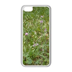 Pink Wildflowers Apple iPhone 5C Seamless Case (White)