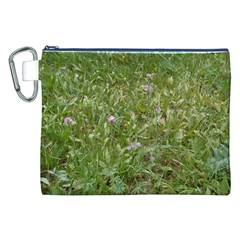 Pink Wildflowers Canvas Cosmetic Bag (XXL)