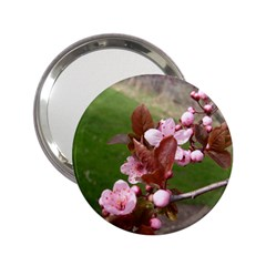 Pink Flowers  2.25  Handbag Mirrors