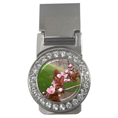Pink Flowers  Money Clips (CZ)