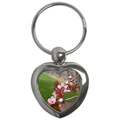 Pink Flowers  Key Chains (Heart)