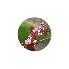 Pink Flowers  Golf Ball Marker