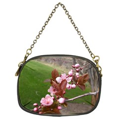 Pink Flowers  Chain Purses (Two Sides)