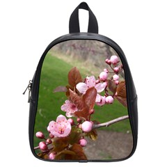 Pink Flowers  School Bags (Small)