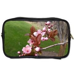 Pink Flowers  Toiletries Bags