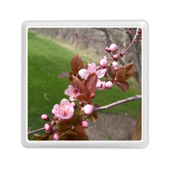 Pink Flowers  Memory Card Reader (Square)