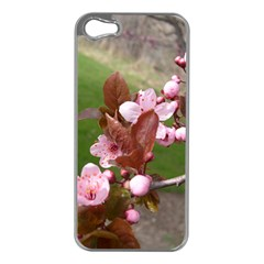Pink Flowers  Apple iPhone 5 Case (Silver)