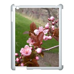 Pink Flowers  Apple iPad 3/4 Case (White)
