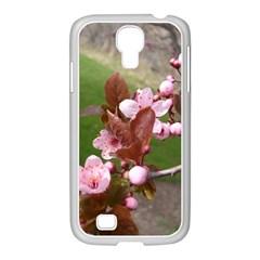 Pink Flowers  Samsung GALAXY S4 I9500/ I9505 Case (White)