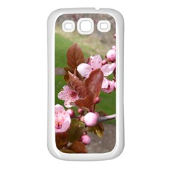 Pink Flowers  Samsung Galaxy S3 Back Case (White)