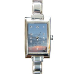 Pink Cloud Sunset Rectangle Italian Charm Watch