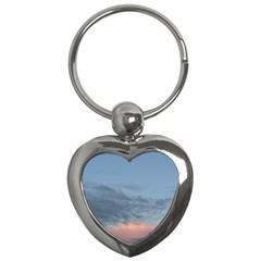 Pink Cloud Sunset Key Chains (Heart)