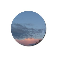 Pink Cloud Sunset Rubber Coaster (Round)