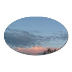 Pink Cloud Sunset Oval Magnet