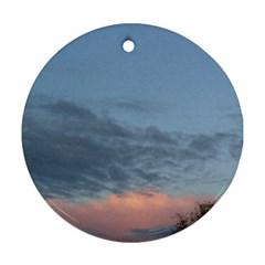 Pink Cloud Sunset Round Ornament (Two Sides)