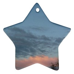 Pink Cloud Sunset Star Ornament (Two Sides)