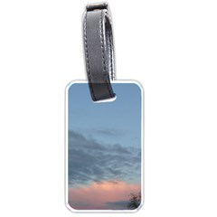 Pink Cloud Sunset Luggage Tags (One Side)