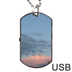 Pink Cloud Sunset Dog Tag USB Flash (Two Sides)