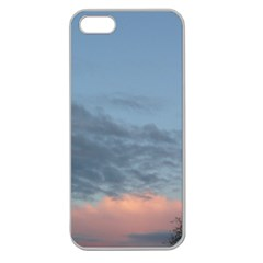 Pink Cloud Sunset Apple Seamless iPhone 5 Case (Clear)