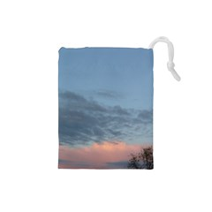 Pink Cloud Sunset Drawstring Pouches (Small)