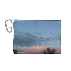 Pink Cloud Sunset Canvas Cosmetic Bag (M)