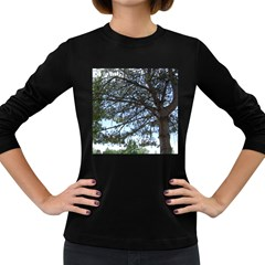 Pine Tree Reaching Women s Long Sleeve Dark T-Shirts