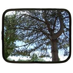 Pine Tree Reaching Netbook Case (Large)