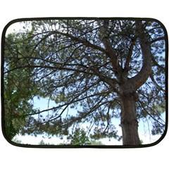 Pine Tree Reaching Double Sided Fleece Blanket (Mini)