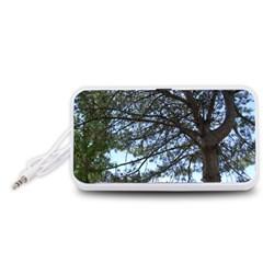 Pine Tree Reaching Portable Speaker (White)