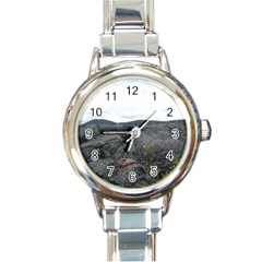 Pillow Lava Round Italian Charm Watch