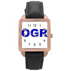 Photography Rose Gold Leather Watch