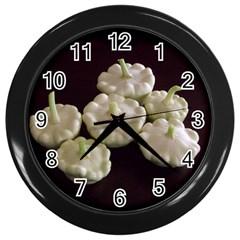Pattypans  Wall Clocks (Black)